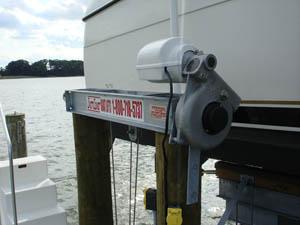 Eight Piling Boat Lifts, Low Profile Aluminum Boat Lift